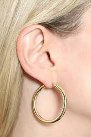 gold earrings